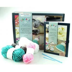 Whitecroft Gorgeous Knitting Crochet Makes Kit For Babies - Includes Book Full of Cute Projects
