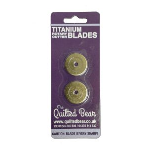Quilted Bear 28mm Deluxe Endurance Titanium Gold Plated Rotary Cutter Blades 2 pack