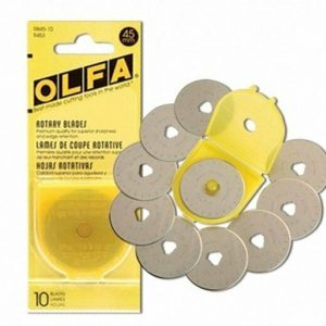 Olfa 45mm Rotary Cutter Replacement Blades Pack of 10