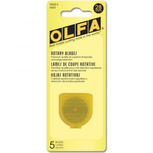 Olfa 28mm Rotary Cutter Replacement Blades Pack of 5