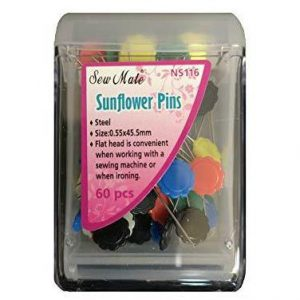 Sew Mate Flat Head Sunflower Pins - 45MM - 60 Pcs