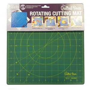 """Quilted Bear 360° Rotating Self Healing Cutting Mat 12"""" x 12"""" Similar to OLFA (inches)"""