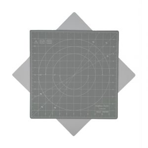 "Crafters Dream New Rotating Cutting Mat Square 12"" x 12"" inches - Colour: Grey"