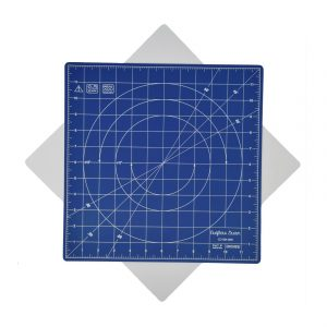 "Crafters Dream New Rotating Cutting Mat Square 12"" x 12"" inches - Colour: Light Blue"