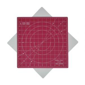 "Crafters Dream New Rotating Cutting Mat Square 12"" x 12"" inches - Colour: Pink"
