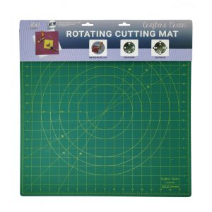 "Crafters Dream New Rotating Cutting Mat Square 18"" x 18"" inches - Colour: Green"