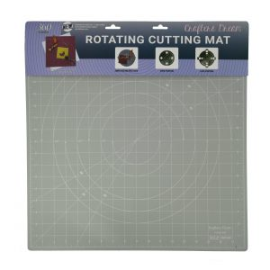 "Crafters Dream New Rotating Cutting Mat Square 18"" x 18"" inches - Colour: Grey"