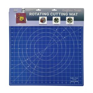 "Crafters Dream New Rotating Cutting Mat Square 18"" x 18"" inches - Colour: Light Blue"