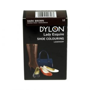 DYLON Lady Esquire Leather & Synthetic Dark Brown Shoe Dye x 3