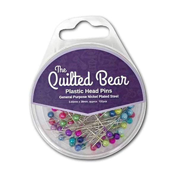 The Quilted Bear Plastic Head Pins 100pc