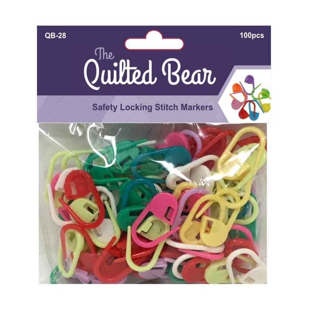 The Quilted Bear Safety Locking Stitch Markers  -100 Pack