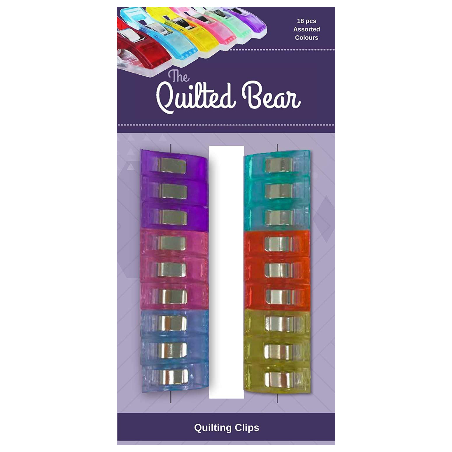 The Quilted Bear Quilting Clips 18 Pack
